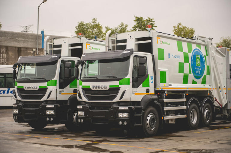 Madrid ensorgt den Müll mit 109 Iveco Stralis CNG